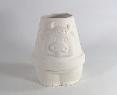 Cow Pot Planter Ready to Paint Ceramic Bisque