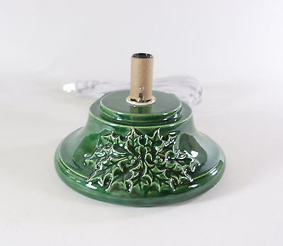 Replacement Ceramic Christmas Tree Base Medium Holly Made to Order Green