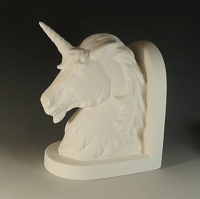 Unicorn Bookend Ready to Paint Ceramic Bisque