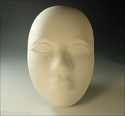 Pottery Face Ceramic Bisque Mask Wall Plaque U Paint Made to Order