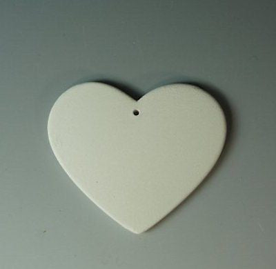 Ceramic Bisque Heart Blanks Jewelry Pendant Lot Ready to Paint made to order