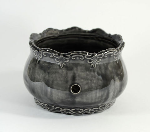 Ornate Yarn Bowl Black