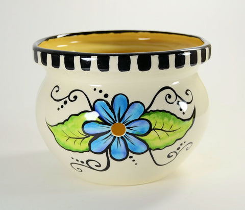 Yarn Bowl Hand Painted Floral