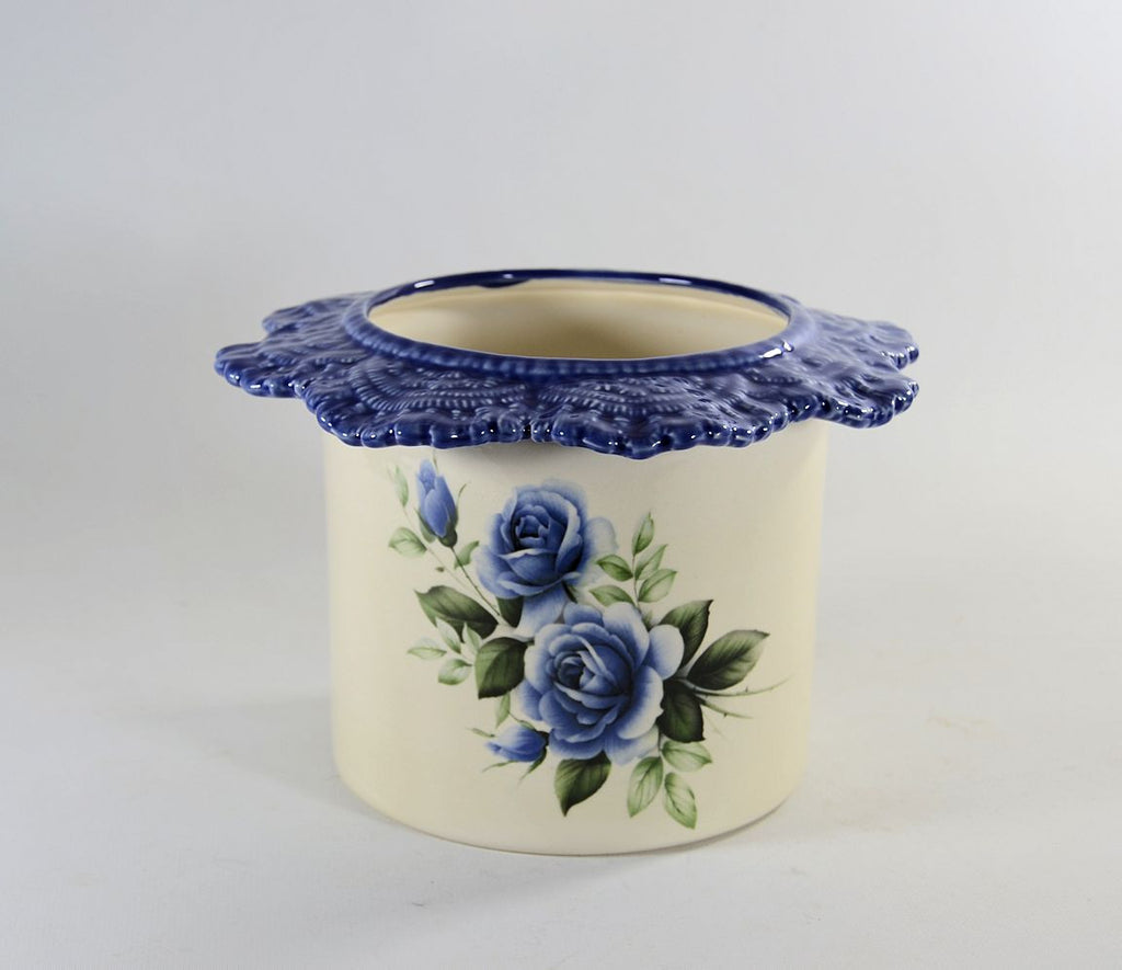Tall Lace Blue Rose