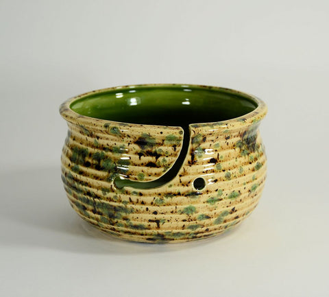 Large Yarn Bowl Cappuccino Mint