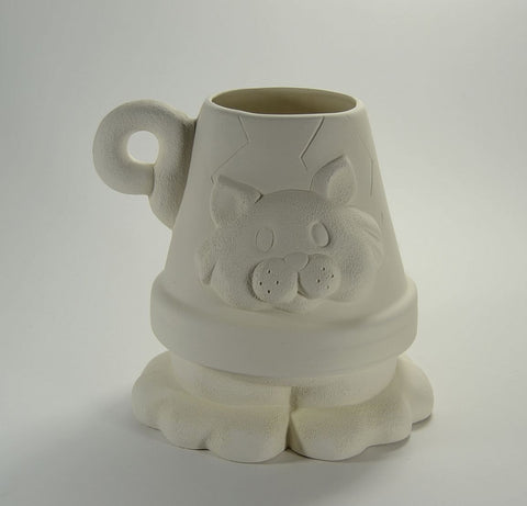 Cat Pot Planter Ready to Paint Ceramic Bisque
