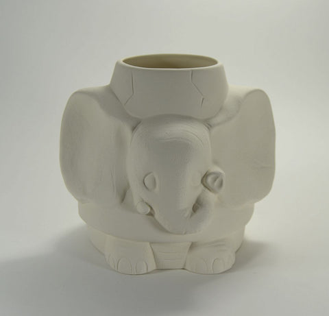 Elephant Pot Planter Ready to Paint Ceramic Bisque