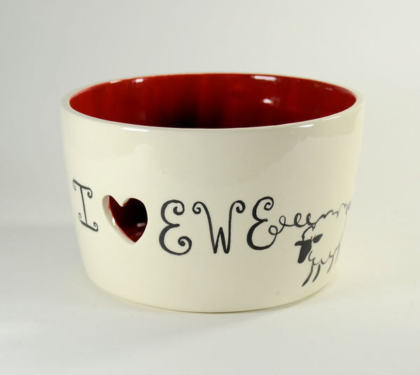 Yarn Bowl I Heart Ewe