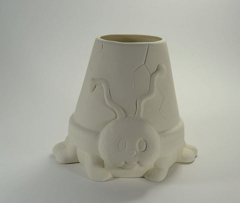 Ladybug Pot Planter Ready to Paint Ceramic Bisque