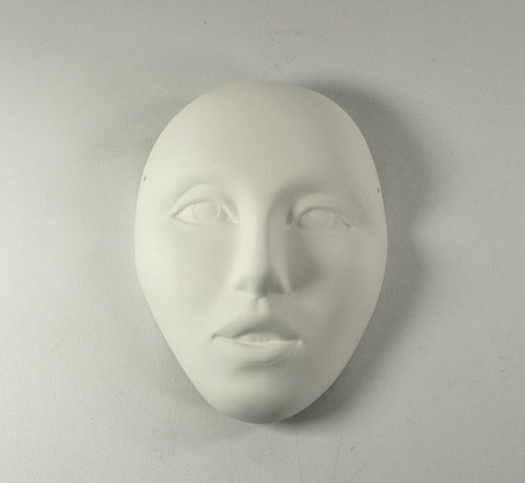 Ready to Paint Ceramic Bisque Face Mask Wall Plaque made to Order