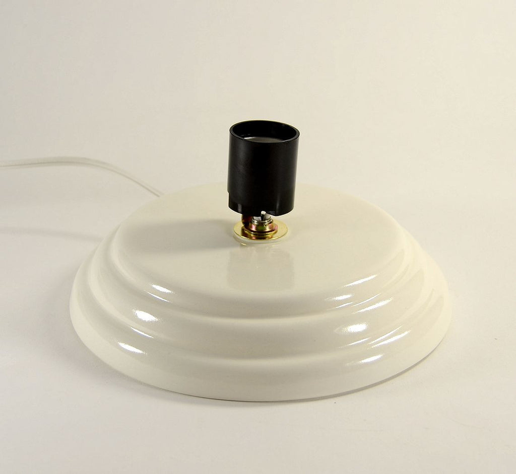 Ceramic Christmas Tree Base Medium Universal Flat Top White made to order