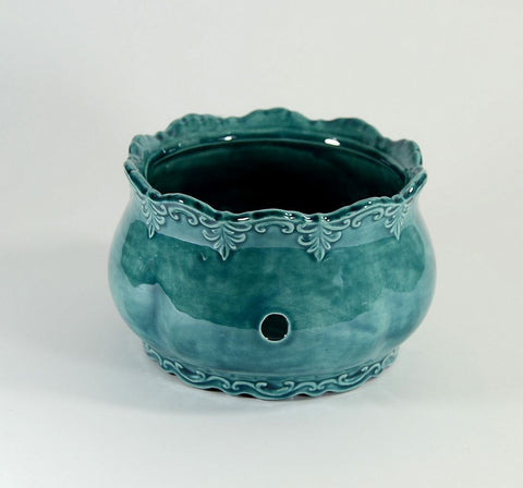 Ornate Yarn Bowl Peacock