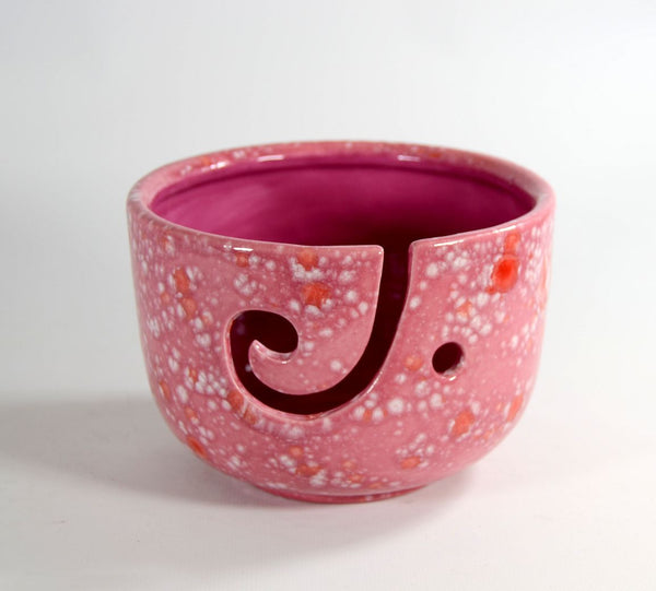 Yarn Bowl Tall Pink
