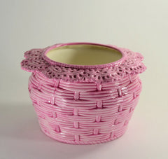 Basket Weave Violet Pot Large choose a color