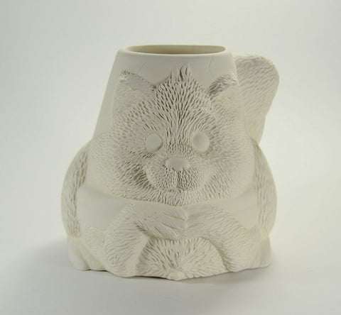 Raccoon Pot Planter Ready to Paint Ceramic Bisque