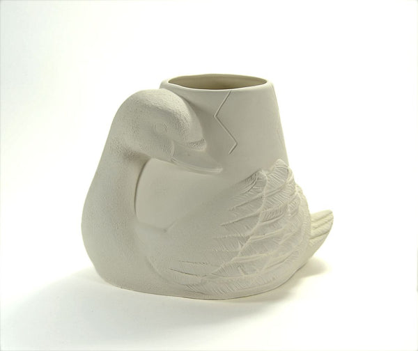 Swan Pot Planter Ready to Paint Ceramic Bisque