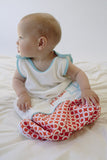 Petit Lion Baby Sleep Sack (Little Lion, Turquoise & Orange)