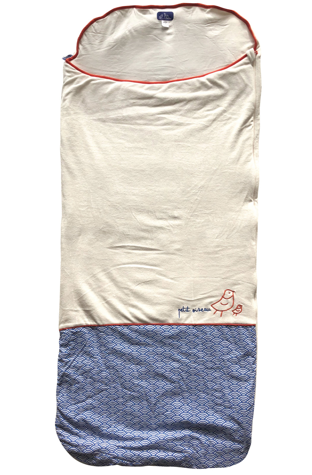 Big kids' organic cotton sleeping bag