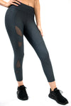 MOTIVATED CROP LEGGING – BLACK ON BLACK