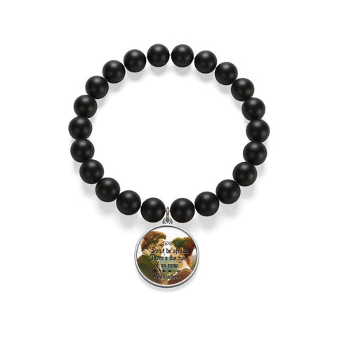 """There's The Two Of Us Now""Outlander Quote Matte Onyx Bracelet - Gifts For Reading Addicts"