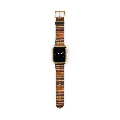 Vintage Book Spines Pattern Design Band for Apple Watch - Gifts For Reading Addicts