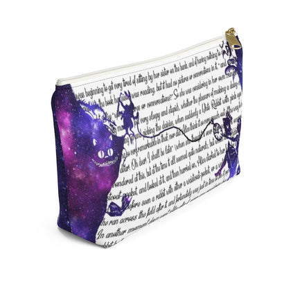 Alice In Wonderland Book Page Accessory Pouch for book lovers - Gifts For Reading Addicts