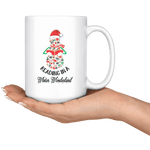 """Reading in a winter wonderland"" 15oz white mug - Gifts For Reading Addicts"