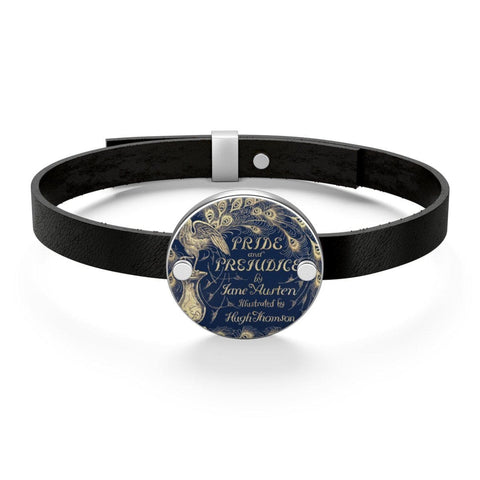 """Pride And Prejudice""Book Cover Leather Bracelet - Gifts For Reading Addicts"