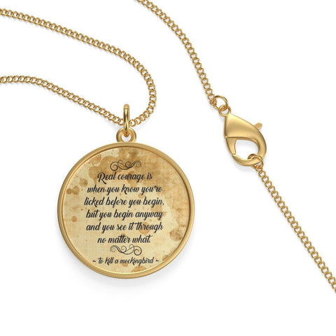 """To Kill A Mockingbird""Quote Single Loop Necklace - Gifts For Reading Addicts"