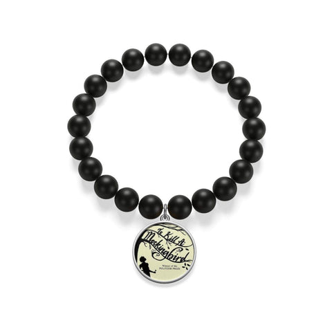 """To Kill A Mockingbird""Book Cover Matte Onyx Bracelet - Gifts For Reading Addicts"