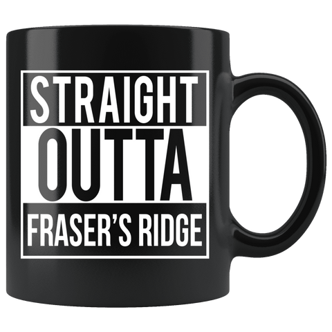 """Fraser's Ridge""11oz Black Mug"