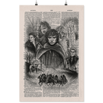 Lord of the rings vintage dictionary poster - Gifts For Reading Addicts