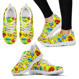 """BOOM"" Yellow Women's Sneakers-For Reading Addicts"
