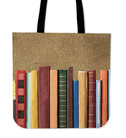 book spine canvas tote bag - Gifts For Reading Addicts