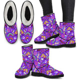 Violet Alice In Wonderland Faux Fur Boots