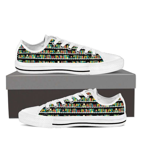 Bookshelves Low Top Women's Shoes - Gifts For Reading Addicts