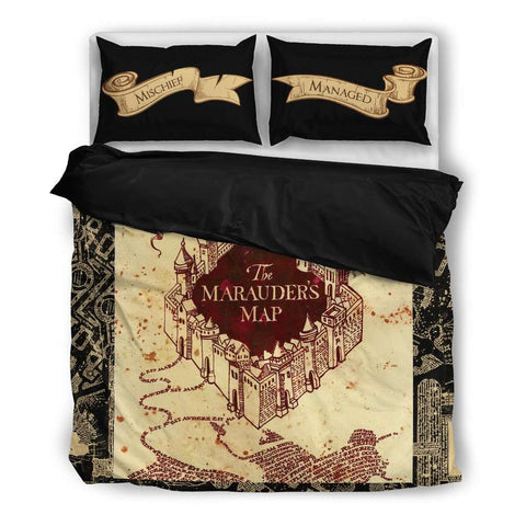 The Marauders Map Bedding Set - Gifts For Reading Addicts