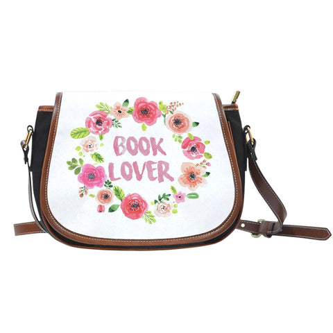 Book Lover Floral Saddle Bag-For Reading Addicts