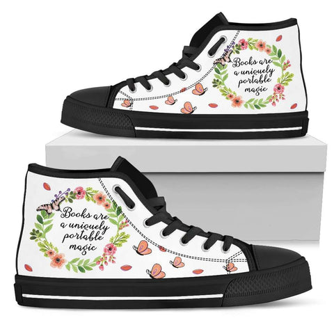 """portable magic""Bookish high top women's shoes - Gifts For Reading Addicts"