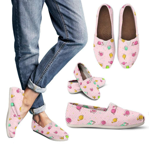 Bookish Women's Casual Shoes Pink-For Reading Addicts