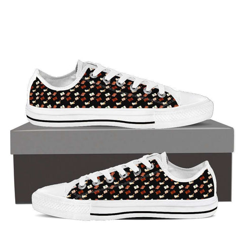 Bookish Low Top Women Shoes White/black - Gifts For Reading Addicts