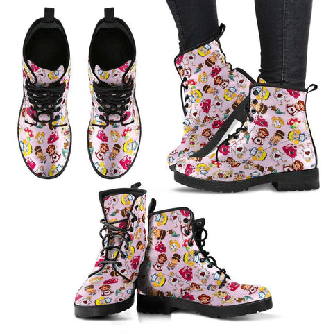 Alice In Wonderland Women's Leather Boots