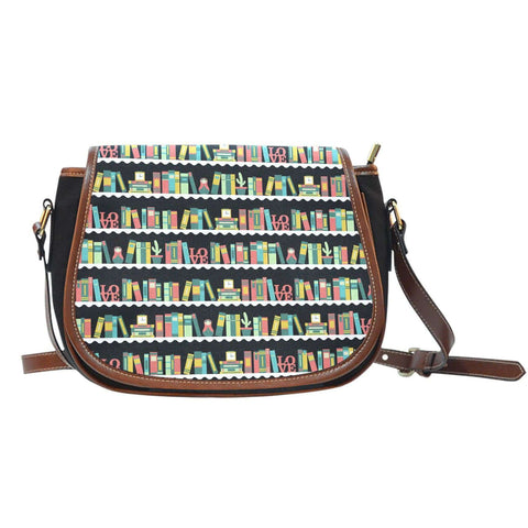Bookshelf pattern Saddle Bags-For Reading Addicts