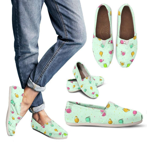 Bookish Women's Casual Shoes Green-For Reading Addicts