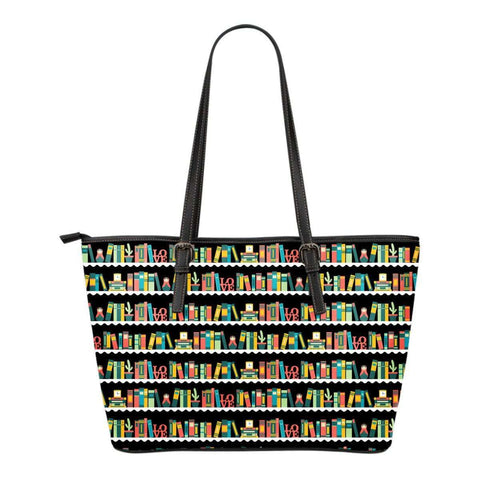 Bookshelves Leather Totes-For Reading Addicts