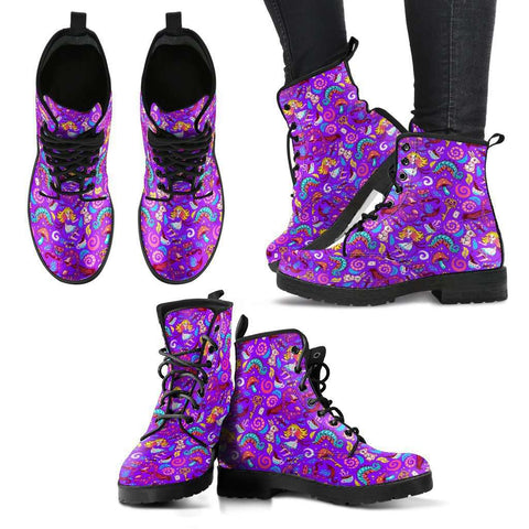 Violet Alice In Wonderland Women's Learther Boots