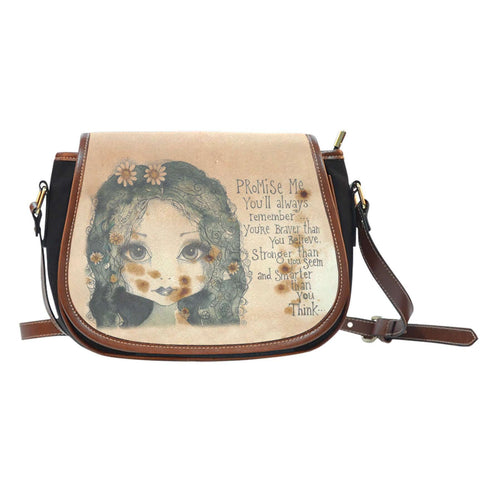 'Promise Me' Saddle Bag-For Reading Addicts