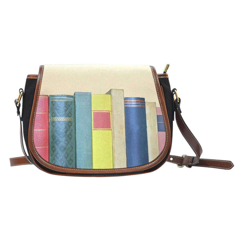 Book spine Saddle tote bag - Gifts For Reading Addicts