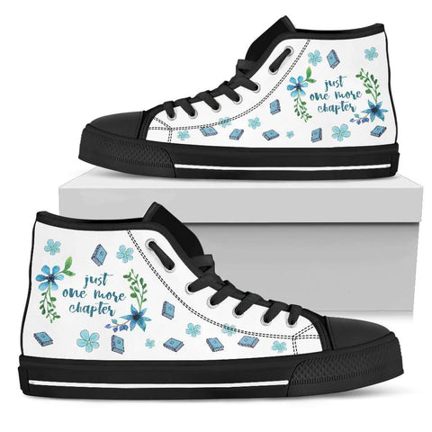 """One chapter""Bookish high top women's shoes - Gifts For Reading Addicts"