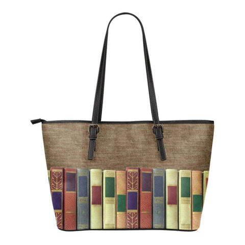 Book spine leather tote bag - Gifts For Reading Addicts